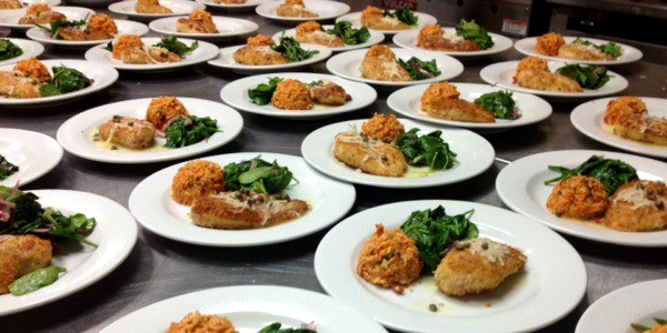 food service for an event at the venue
