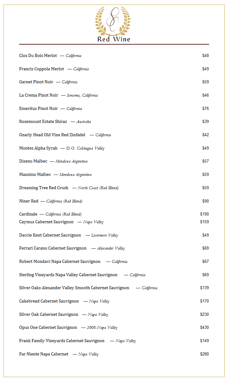 summit-club-longview- red-wine-list