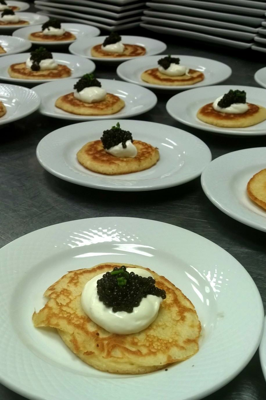 plating food for large party
