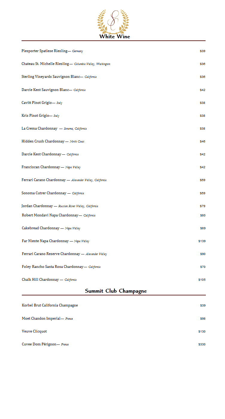 summit-club-longview- white-wine-list